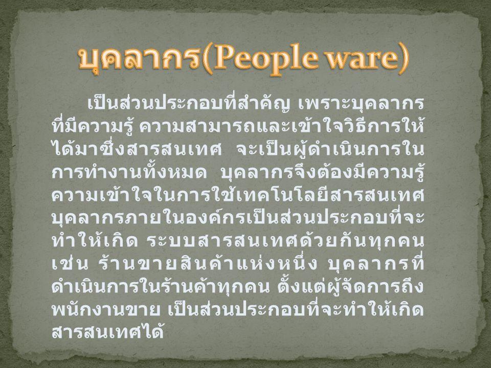 บุคลากร(People ware)