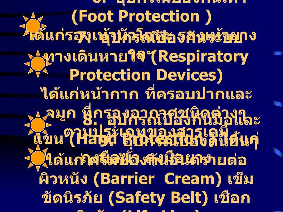 6. อุปกรณ์ป้องกันเท้า (Foot Protection )