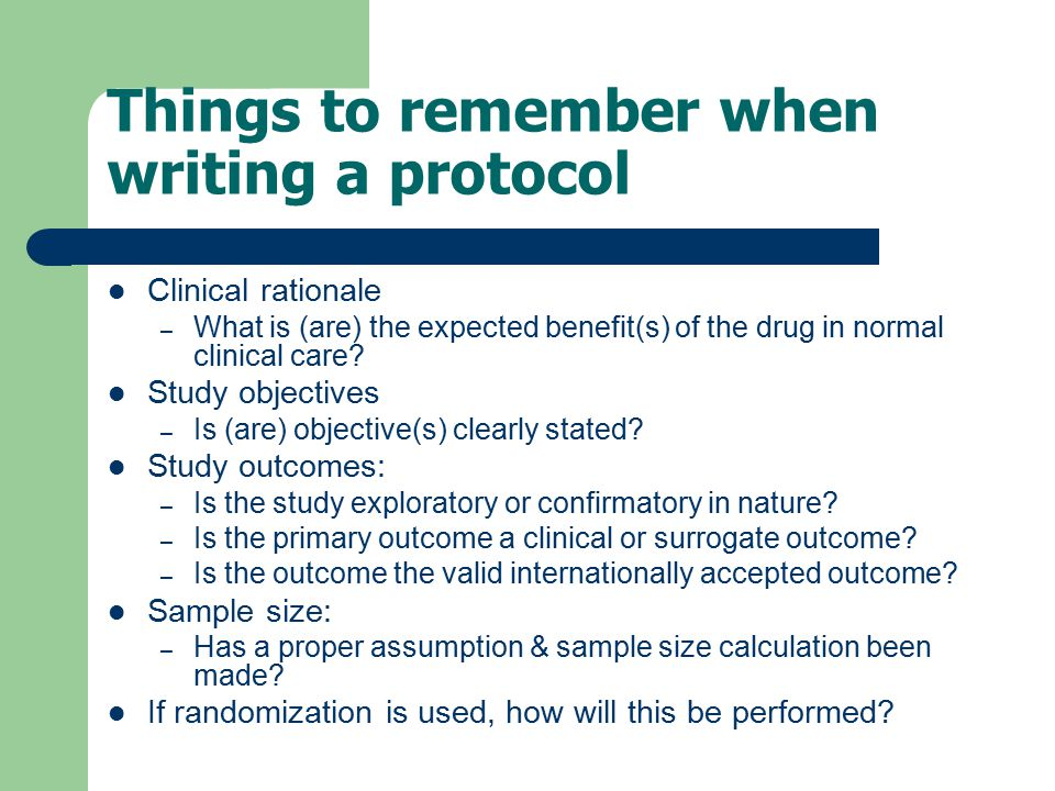 Things to remember when writing a protocol