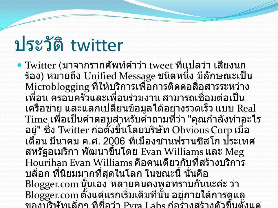 ประวัติ twitter