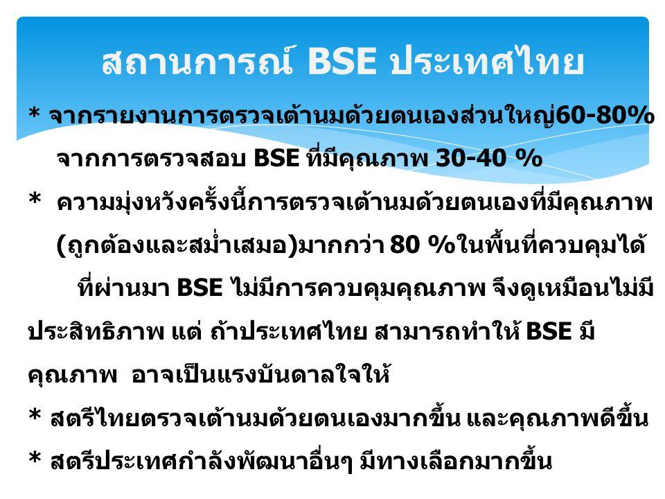 สถานการณ์ BSE ประเทศไทย