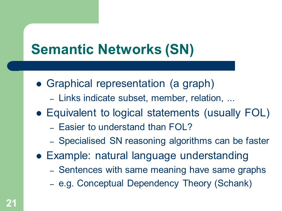 Semantic Networks (SN)