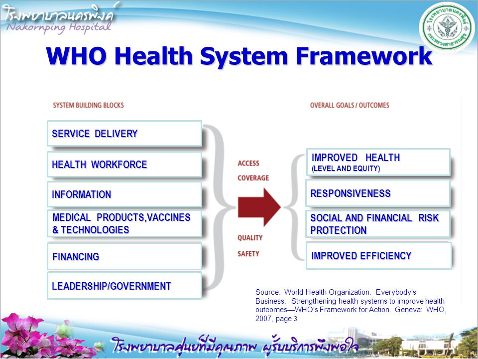 WHO Health System Framework