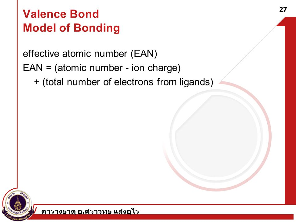 Valence Bond Model of Bonding