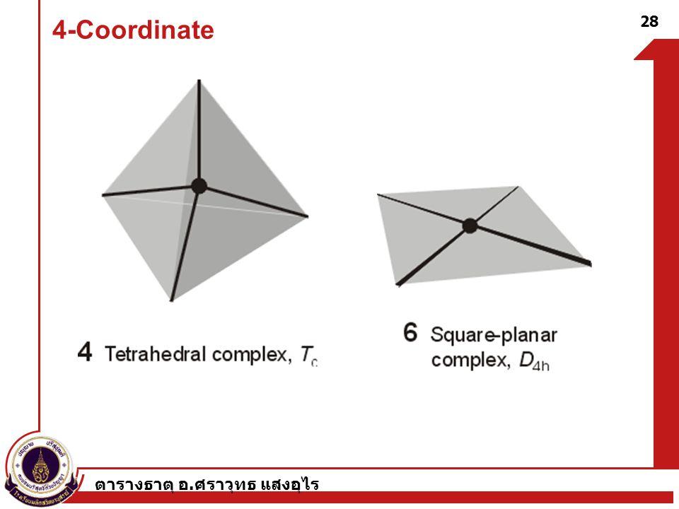 4-Coordinate ตารางธาตุ อ.ศราวุทธ แสงอุไร