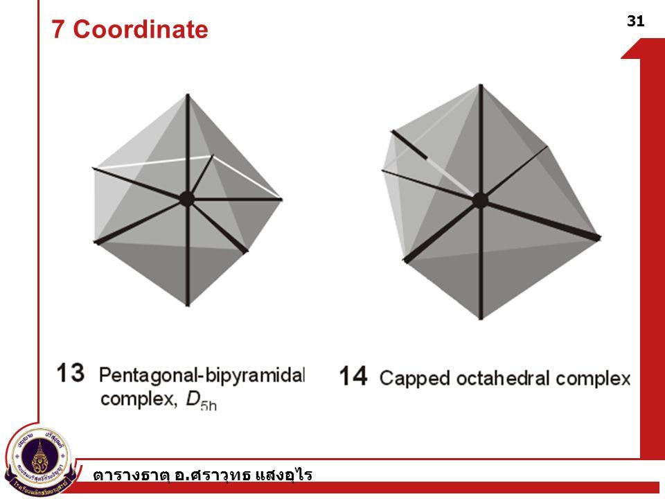 7 Coordinate ตารางธาตุ อ.ศราวุทธ แสงอุไร