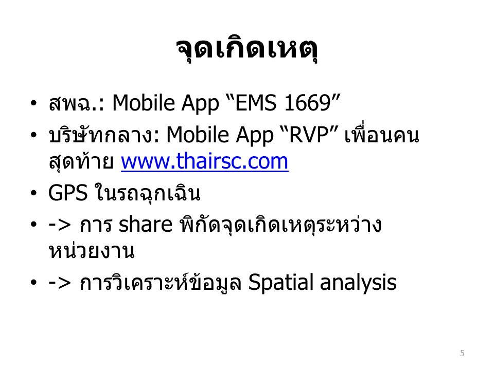 จุดเกิดเหตุ สพฉ.: Mobile App EMS 1669