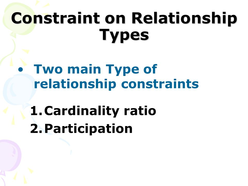 Constraint on Relationship Types