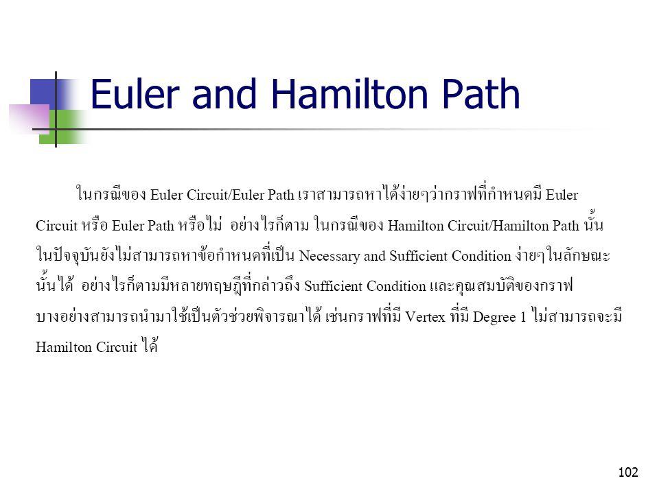 Euler and Hamilton Path