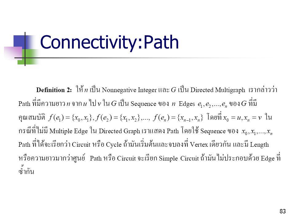 Connectivity:Path