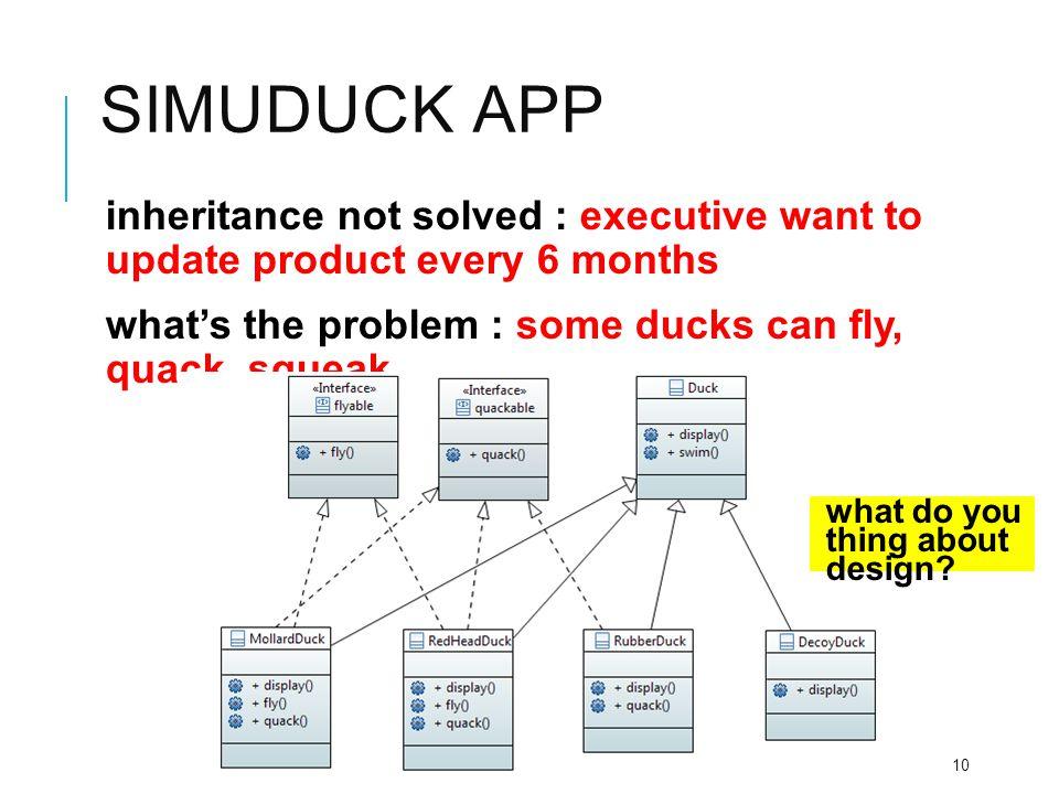 Simuduck app interface class