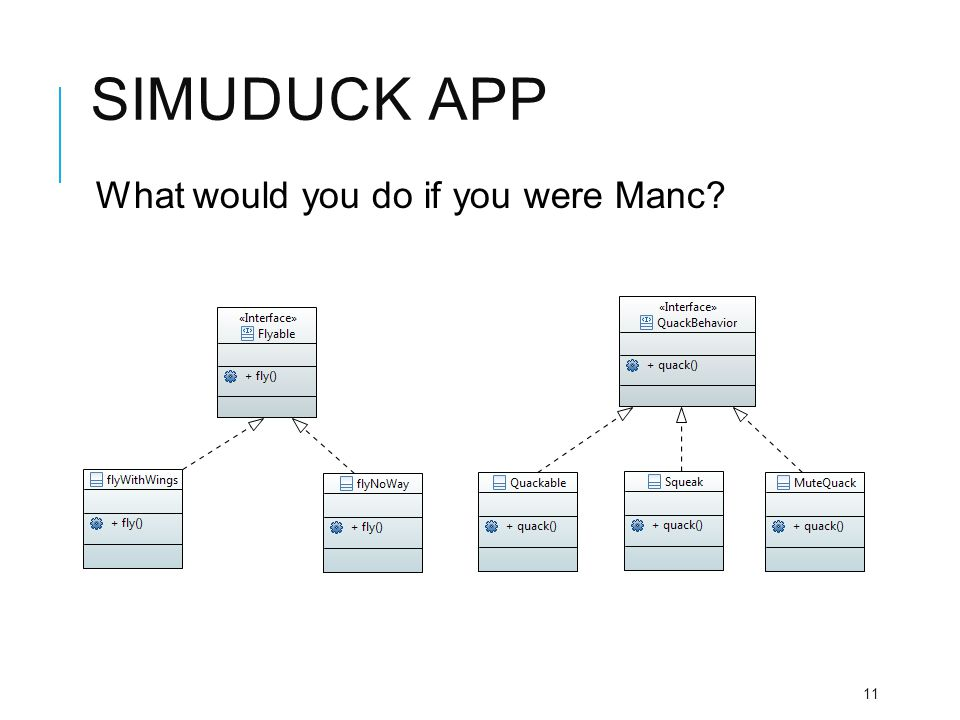 Simuduck app What would you do if you were Manc