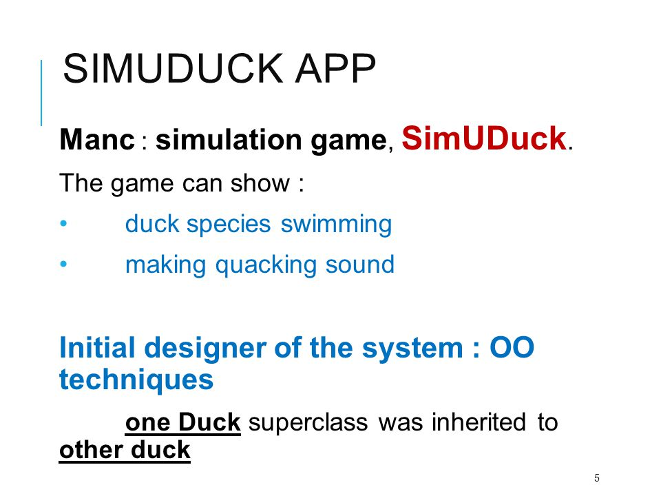 Simuduck app Manc : simulation game, SimUDuck.