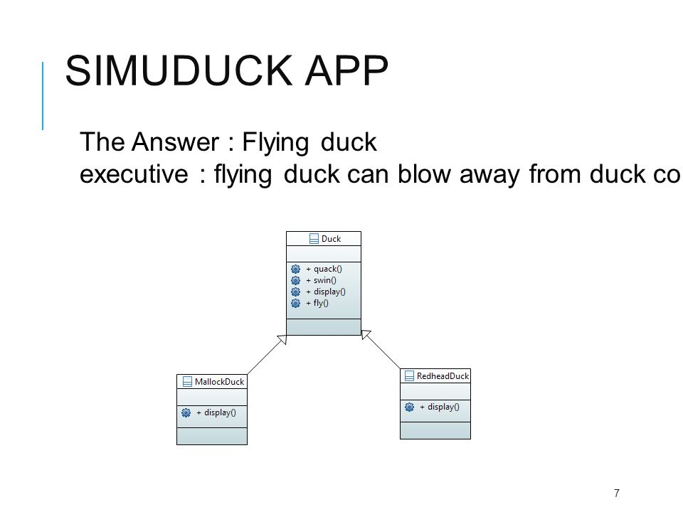 Simuduck app The Answer : Flying duck