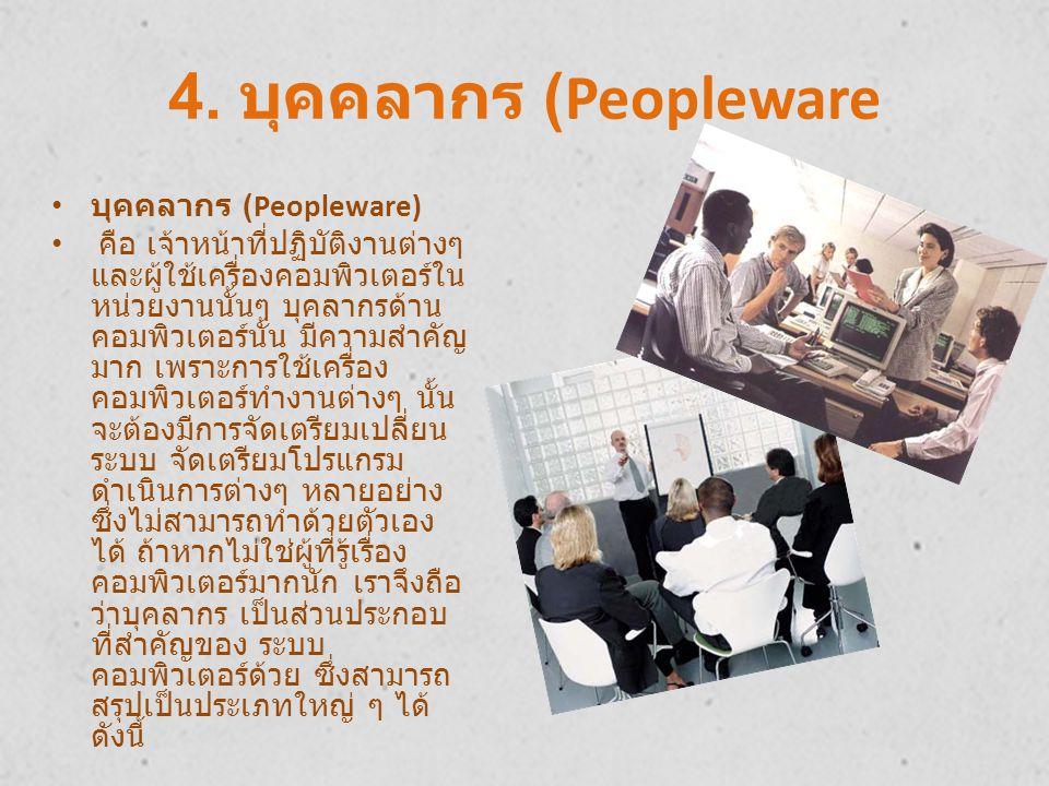 4. บุคคลากร (Peopleware บุคคลากร (Peopleware)