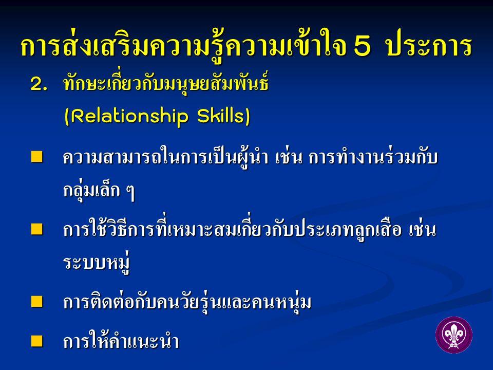 การส่งเสริมความรู้ความเข้าใจ 5 ประการ