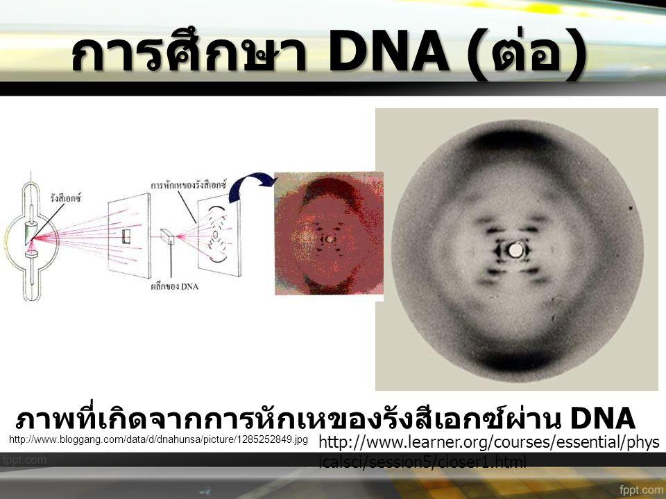 ภาพที่เกิดจากการหักเหของรังสีเอกซ์ผ่าน DNA