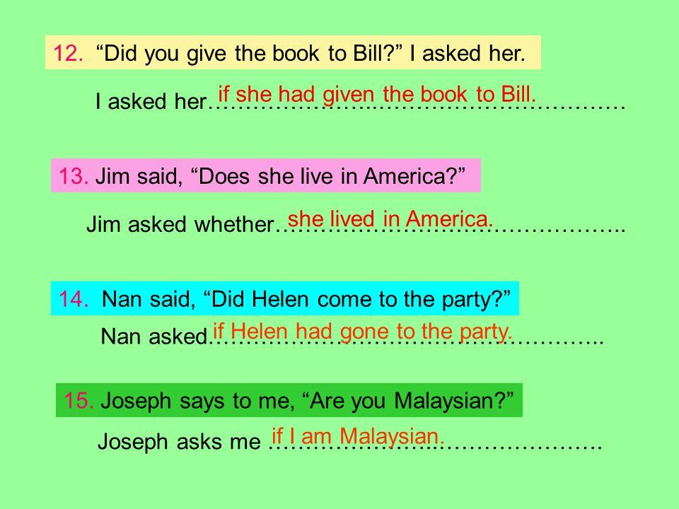 Joseph asks me …………………..………………….