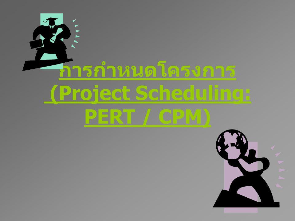 การกำหนดโครงการ (Project Scheduling: PERT / CPM)