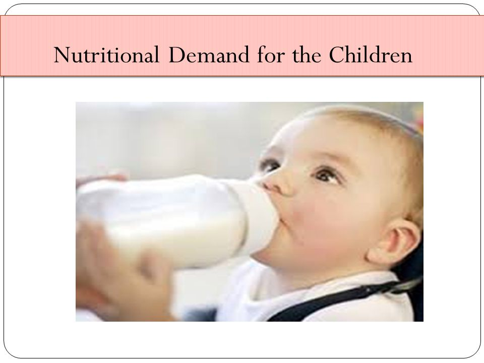 Nutritional Demand for the Children