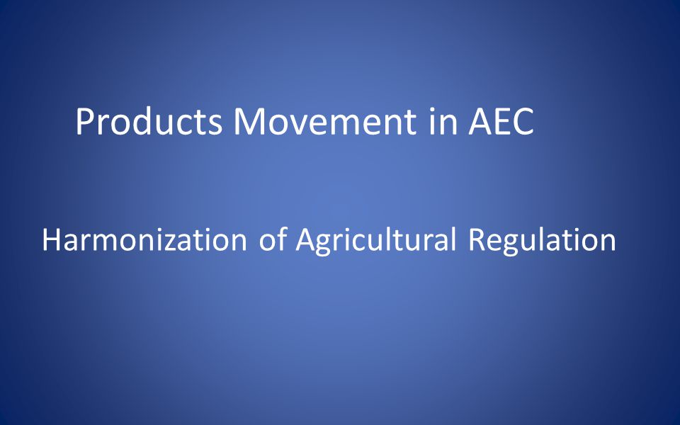 Products Movement in AEC