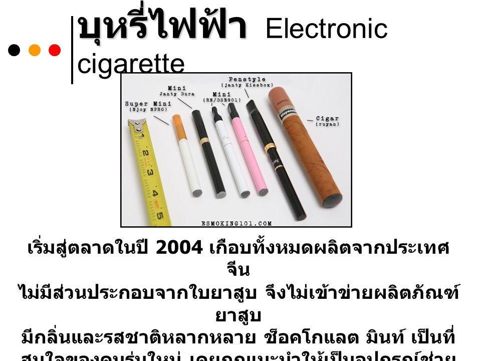 บุหรี่ไฟฟ้า Electronic cigarette