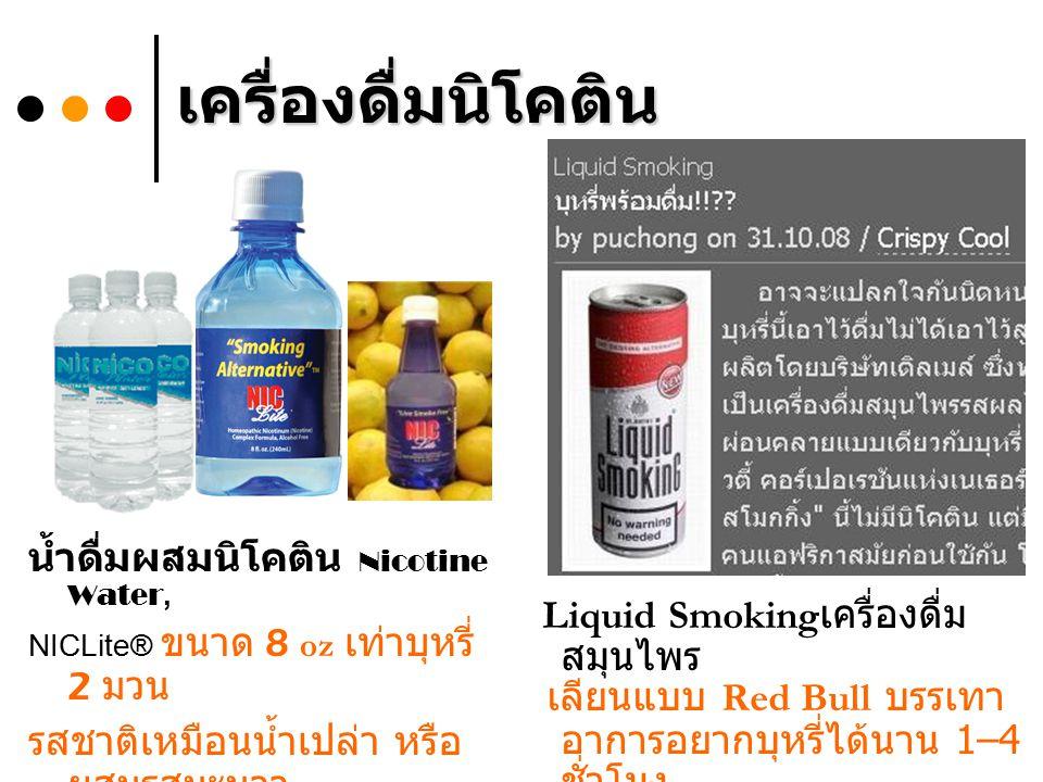 เครื่องดื่มนิโคติน น้ำดื่มผสมนิโคติน Nicotine Water,