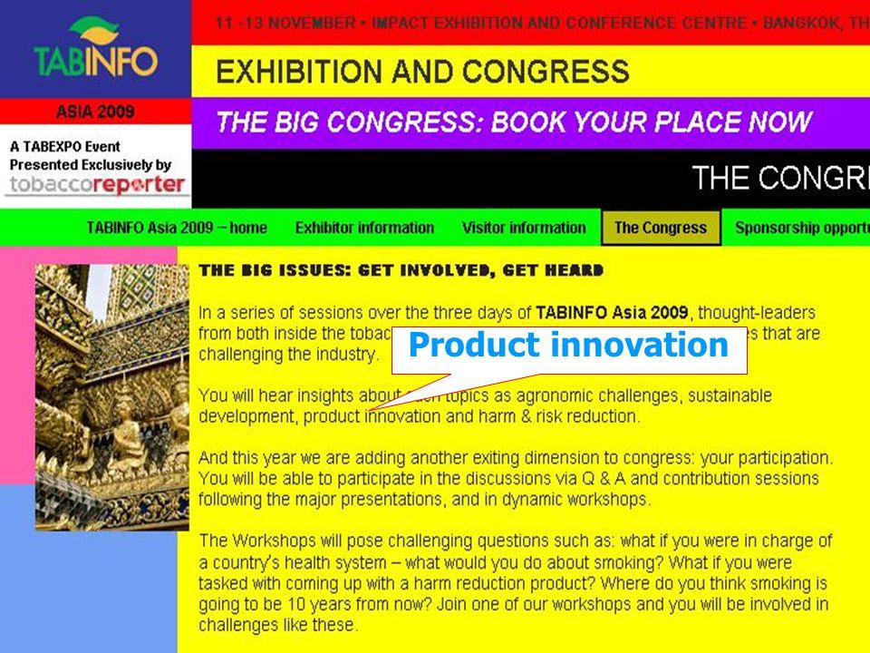 Product innovation ประชุมวิชาการบุหรี่แห่งชาติ 25 สค 52