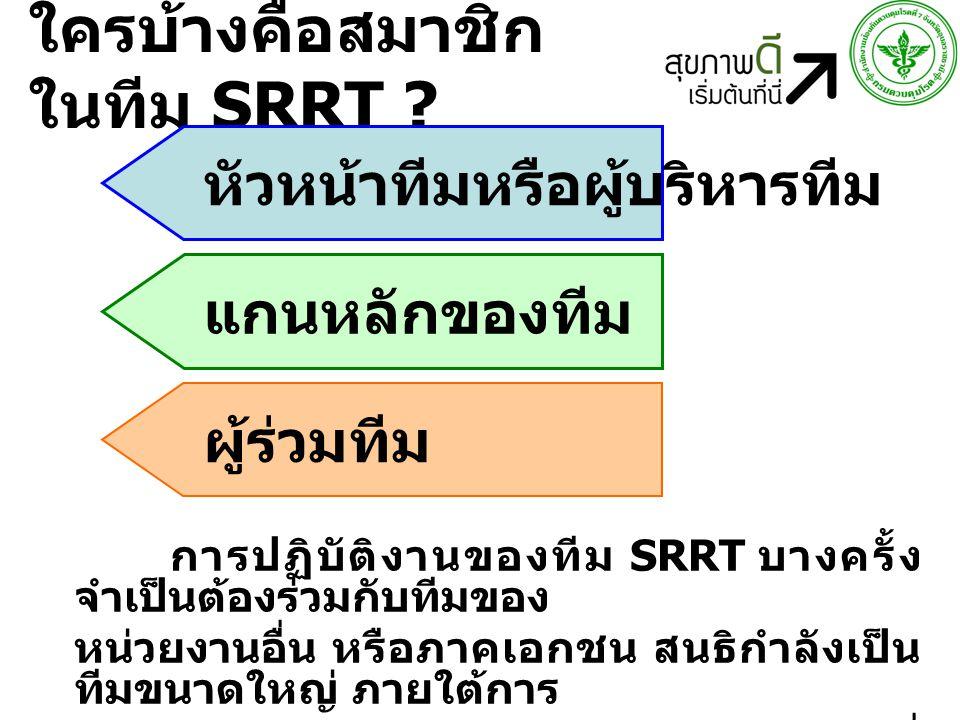 ใครบ้างคือสมาชิกในทีม SRRT