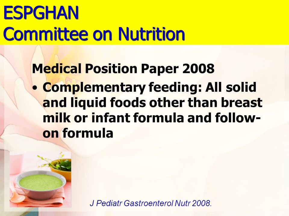 ESPGHAN Committee on Nutrition