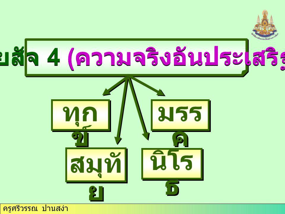 อริยสัจ 4 (ความจริงอันประเสริฐ)