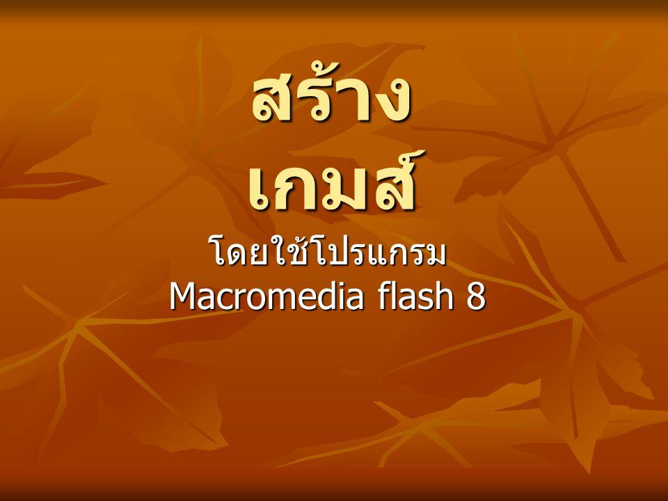 โดยใช้โปรแกรม Macromedia flash 8