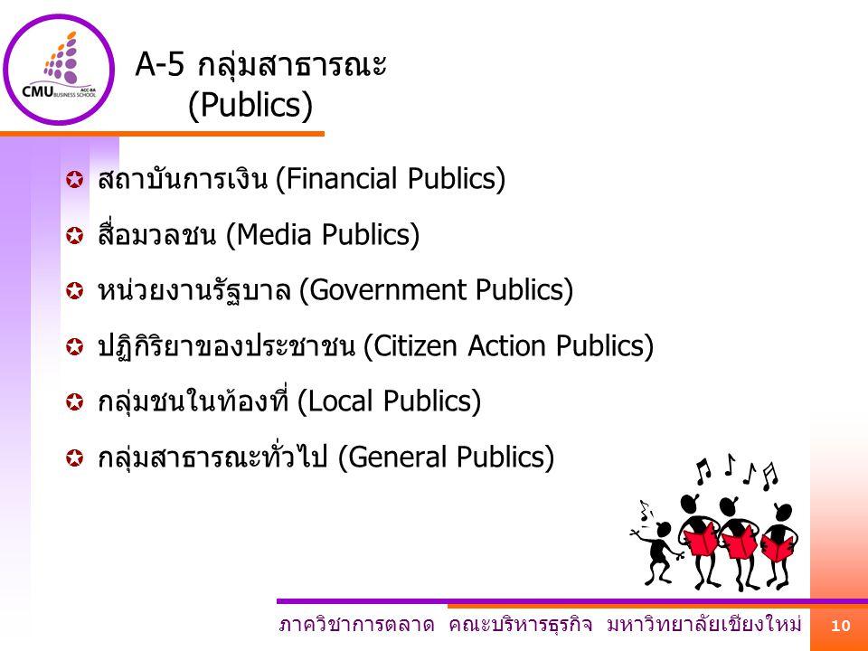 A-5 กลุ่มสาธารณะ (Publics)