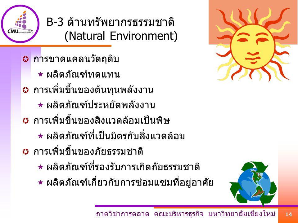 B-3 ด้านทรัพยากรธรรมชาติ (Natural Environment)