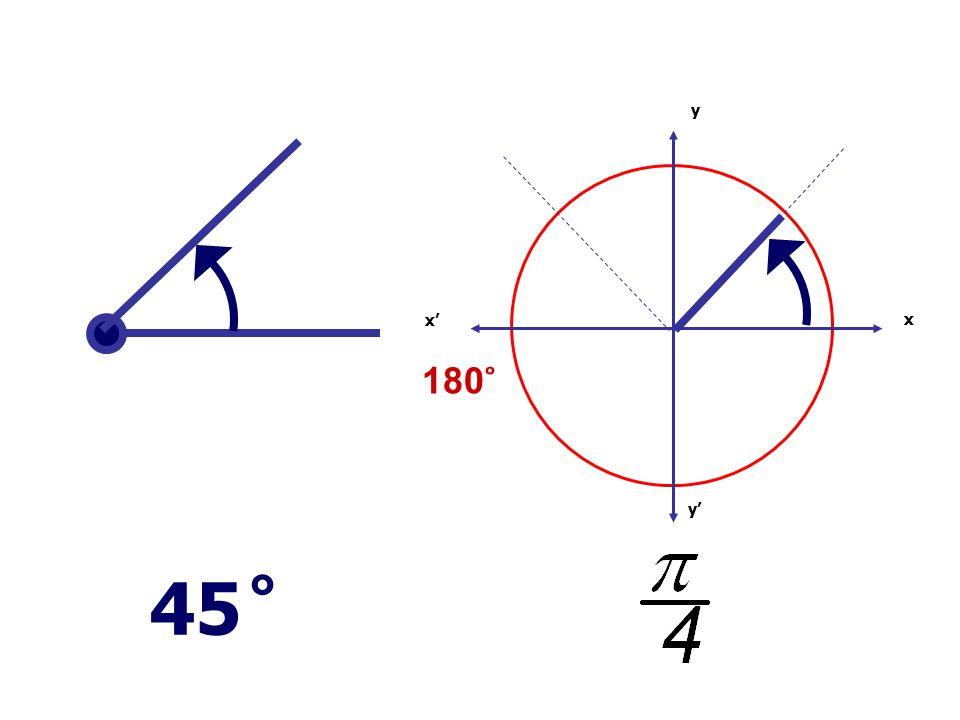 x x' y' y 180 ̊ 45 ̊