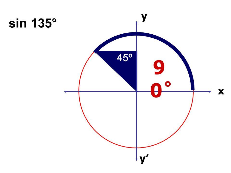 x x' y' y sin 135° 45º 90 ̊