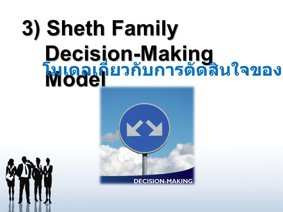 3) Sheth Family Decision-Making Model