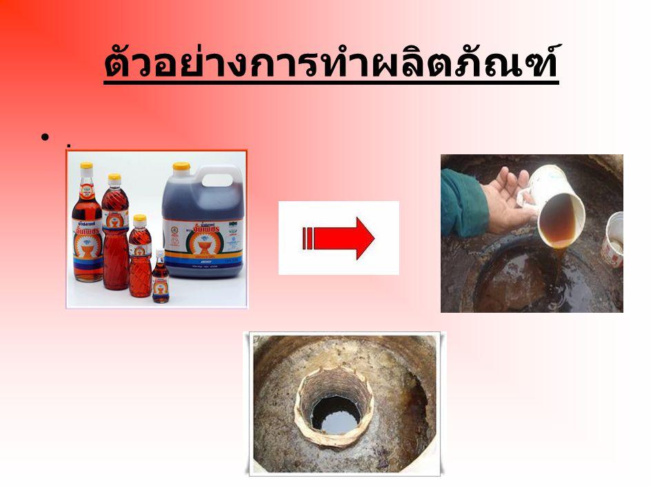 ตัวอย่างการทำผลิตภัณฑ์