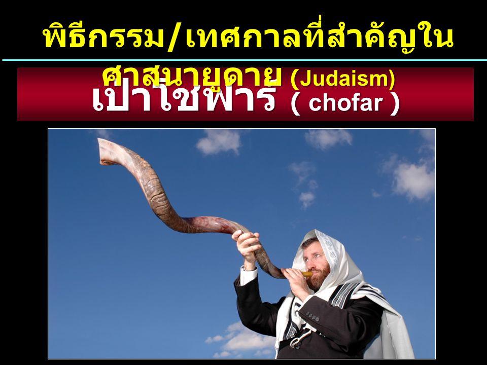 พิธีกรรม/เทศกาลที่สำคัญในศาสนายูดาย (Judaism)
