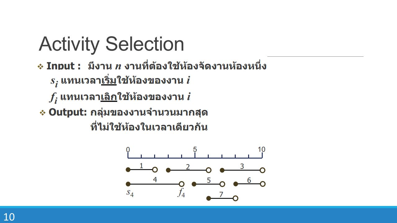 Activity Selection
