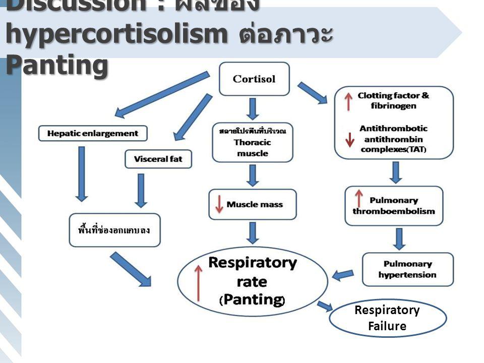 Discussion : ผลของ hypercortisolism ต่อภาวะ Panting