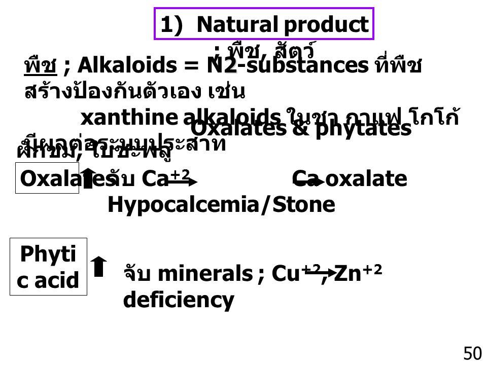 1) Natural product ; พืช, สัตว์