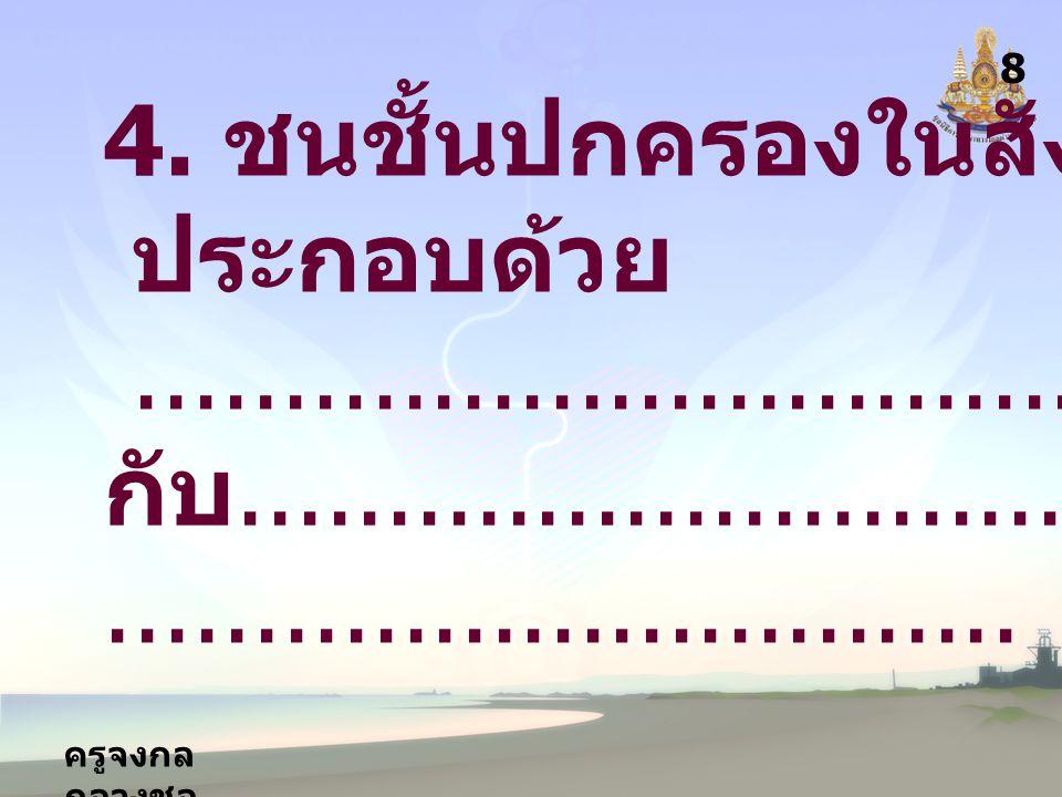 4. ชนชั้นปกครองในสังคมไทย ประกอบด้วย
