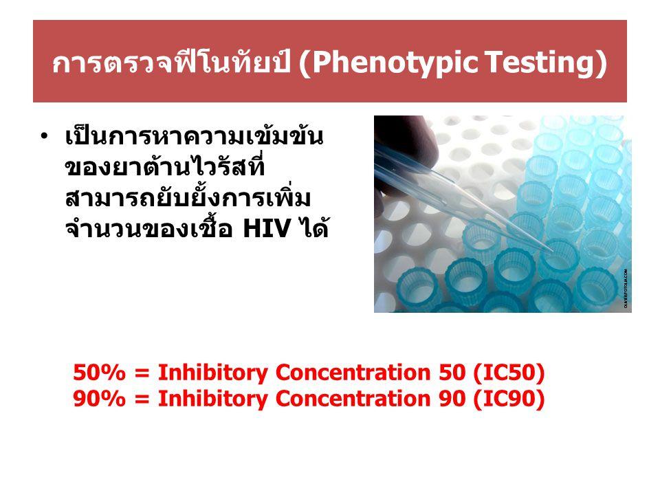 การตรวจฟีโนทัยป์ (Phenotypic Testing)