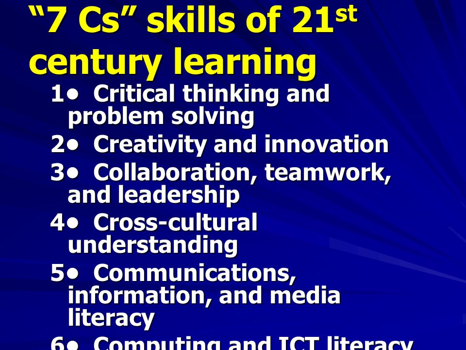 7 Cs skills of 21st century learning