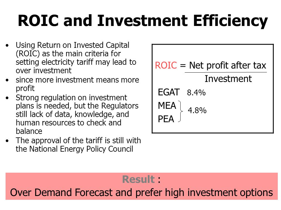 ROIC and Investment Efficiency