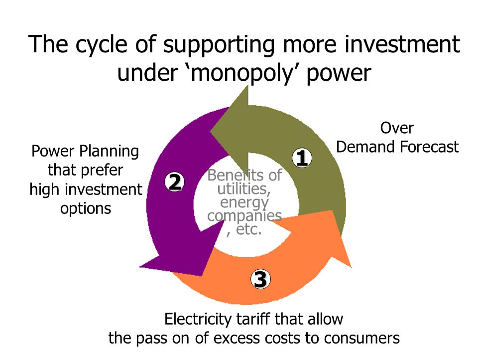 The cycle of supporting more investment under 'monopoly' power