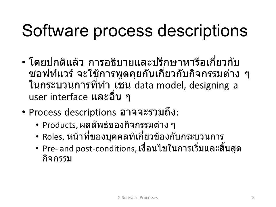 Software process descriptions