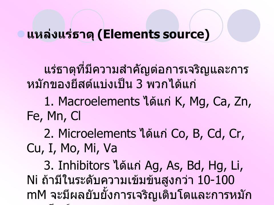 แหล่งแร่ธาตุ (Elements source)