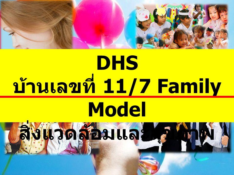 บ้านเลขที่ 11/7 Family Model สิ่งแวดล้อมและสุขภาพ